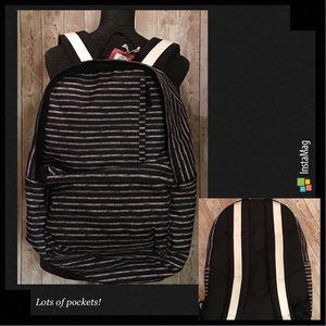 Merona Black/White Stripe Backpack